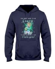 Mermaid - Train Seahorses Hooded Sweatshirt tile