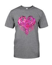 Breast Cancer Dragon Heart Classic T-Shirt tile