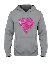 Breast Cancer Dragon Heart Hooded Sweatshirt tile