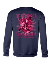 Breast Cancer Dragon Be Stronger 2 Sides Crewneck Sweatshirt tile