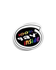 STICKER-LGBT- Gay Inside Sticker - 10 pack (Horizontal) front