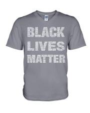 Black Live Matter V-Neck T-Shirt thumbnail