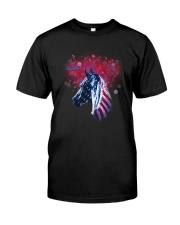Horse Happy Independent Day Classic T-Shirt front