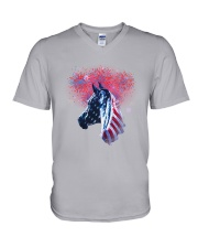Horse Happy Independent Day V-Neck T-Shirt thumbnail