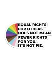 STICKER-LGBT - Its Not Pie Sticker - Single (Horizontal) front