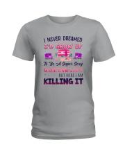 Flamingo Camping Lady Ladies T-Shirt tile