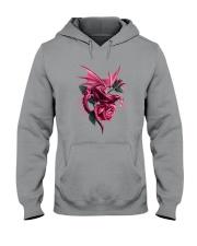 Breast Cancer Dragon Rose Hooded Sweatshirt thumbnail