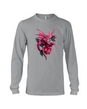 Breast Cancer Dragon Rose Long Sleeve Tee thumbnail