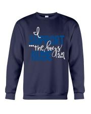 Blue - I Support The Boys Crewneck Sweatshirt thumbnail