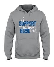 Blue - I Support The Boys Hooded Sweatshirt thumbnail