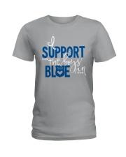 Blue - I Support The Boys Ladies T-Shirt thumbnail