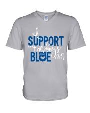 Blue - I Support The Boys V-Neck T-Shirt thumbnail
