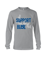 Blue - I Support The Boys Long Sleeve Tee thumbnail