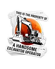 STICKER-Excavator - This Is A Property Sticker - 10 pack (Vertical) front