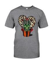 Skull Cactus Leopard Love Classic T-Shirt front