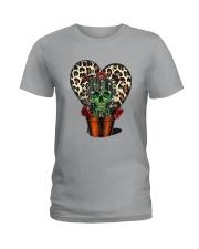 Skull Cactus Leopard Love Ladies T-Shirt thumbnail