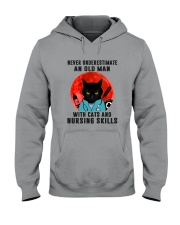 Cat And Nurse - Never Underestimate An Old Man Hooded Sweatshirt tile