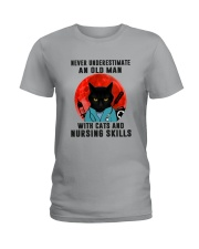 Cat And Nurse - Never Underestimate An Old Man Ladies T-Shirt tile