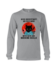 Cat And Nurse - Never Underestimate An Old Man Long Sleeve Tee tile