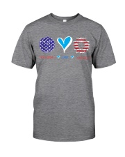 Volleyball Love America Classic T-Shirt tile