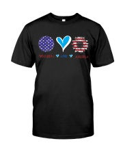 Volleyball Love America Classic T-Shirt front