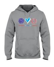 Volleyball Love America Hooded Sweatshirt thumbnail