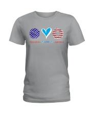 Volleyball Love America Ladies T-Shirt thumbnail