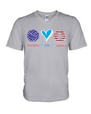 Volleyball Love America V-Neck T-Shirt thumbnail
