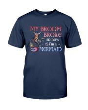 Mermaid My Broom Broke Classic T-Shirt tile
