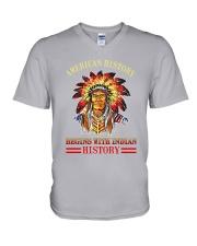 Native American History V-Neck T-Shirt thumbnail