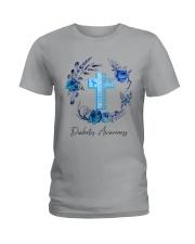 Diabetes Your Faith Bigger Than Ladies T-Shirt tile