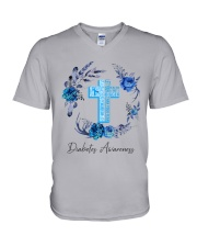 Diabetes Your Faith Bigger Than V-Neck T-Shirt tile