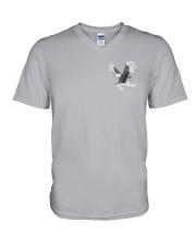Lung Cancer Be Stronger 2 Sides V-Neck T-Shirt tile
