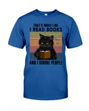 Black Cat I Read Book Classic T-Shirt tile