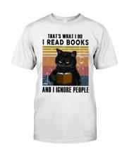 Black Cat I Read Book Classic T-Shirt front