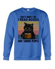 Black Cat I Read Book Crewneck Sweatshirt thumbnail