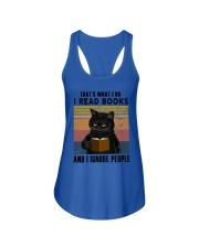 Black Cat I Read Book Ladies Flowy Tank thumbnail