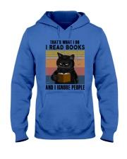 Black Cat I Read Book Hooded Sweatshirt thumbnail