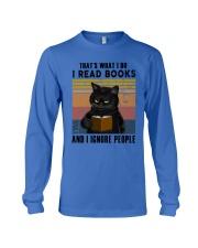 Black Cat I Read Book Long Sleeve Tee thumbnail
