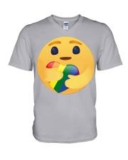 Lgbt Emoji  V-Neck T-Shirt thumbnail