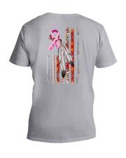 Breast Cancer Native 2 Sides V-Neck T-Shirt tile