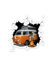 Camper Van Crack Sticker - Single (Vertical) front