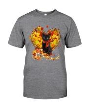 Autumn Cat Heart Classic T-Shirt tile