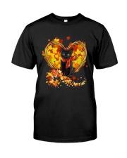 Autumn Cat Heart Classic T-Shirt front