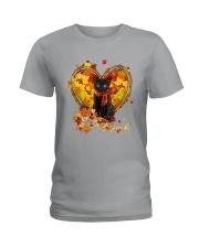 Autumn Cat Heart Ladies T-Shirt tile