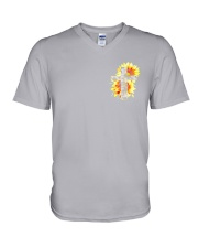 Jesus 2 Sides V-Neck T-Shirt thumbnail