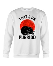 Thats On Purriod Crewneck Sweatshirt thumbnail