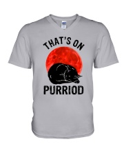 Thats On Purriod V-Neck T-Shirt thumbnail
