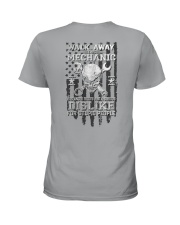Skull Mechanic - Dislike For Stupid People 2 Sides Ladies T-Shirt tile