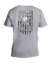 Skull Mechanic - Dislike For Stupid People 2 Sides V-Neck T-Shirt tile